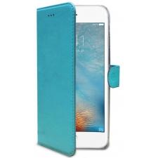 iPhone 7 Echt Leer Hoesje Turquoise