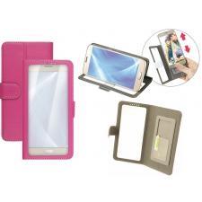 Samsung Galaxy C7 Pro Hoesje Doorzichtig Roze XXL