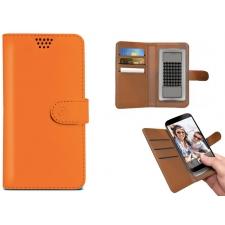 Motorola Moto E4 Plus Hoesje Van Leer Oranje XXL