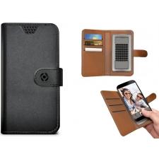 Samsung Galaxy J3 2017 Bookcase van leer zwart XL
