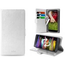 Samsung Galaxy C7 Pro Hoesje van echt leer Wit XXL
