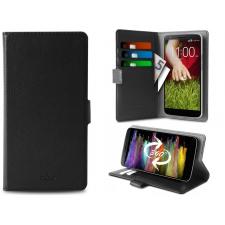 Samsung Galaxy C7 Pro Hoesje van echt leer Zwart XXL