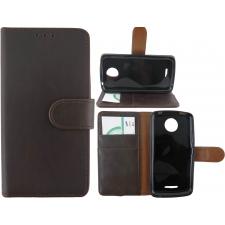 Motorola Moto C Plus 100% Leer Premium Donkerbruin Hoesje