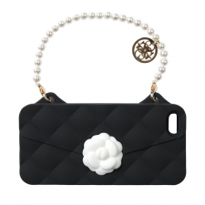 BYBI Flower Handbag Black iPhone 4