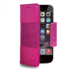 Celly Case Glamme Agenda Glitter iPhone 6 Plus Fuchsia