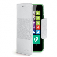 Celly Case Glamme Agenda Glitter Lumia 630 White