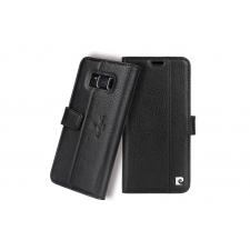 Samsung Galaxy S8 Origineel Luxe Book Case Hoesje 100% Leer Zwart