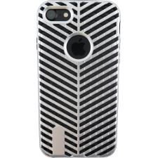 iPhone 7 Striped Bumper Hoesje 2 in 1 Grijs