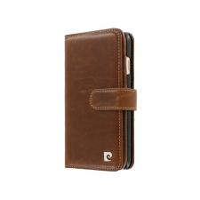 iPhone 7 Origineel Luxe Book Case Hoesje 100% Leer Donker Bruin