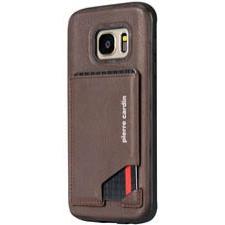 Samsung Galaxy S7 Edge Origineel Luxe Back Cover Pas 100% Leer Donker Bruin