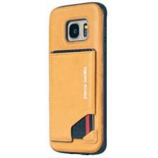 Samsung Galaxy S7 Edge Origineel Luxe Back Cover Pas 100% Leer Geel