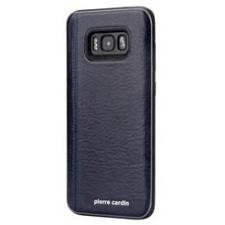 Samsung Galaxy S8 Plus Origineel Luxe Back Cover 100% Leer Donker Blauw