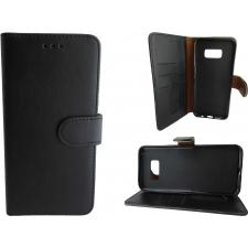 Samsung Galaxy S8 Hoesje Zwart ECHT LEER