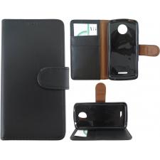Motorola Moto C Plus 100% Leer Premium Zwart Hoesje