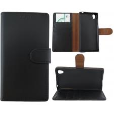 Sony Xperia L 100% Leer Premium Zwart Hoesje